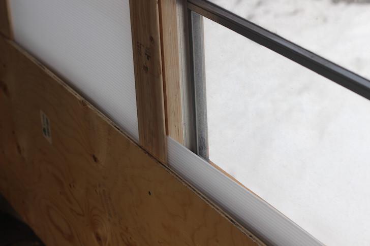 Window shutters on skoolie