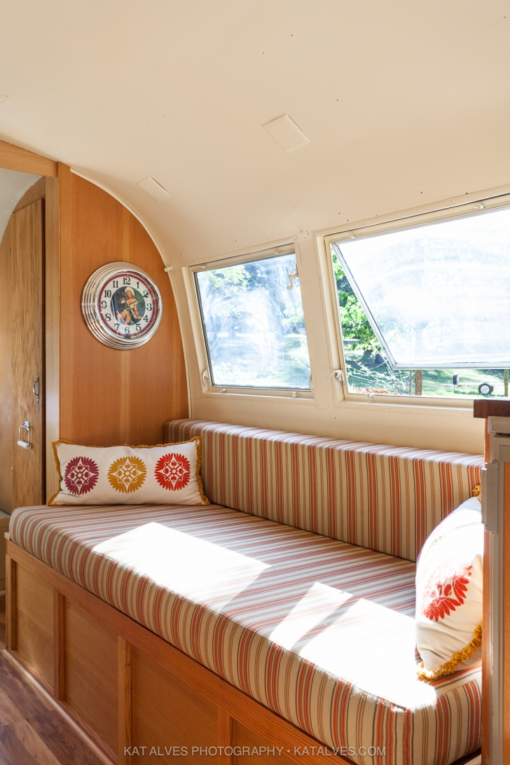 Built in Seating in Custom Airstream