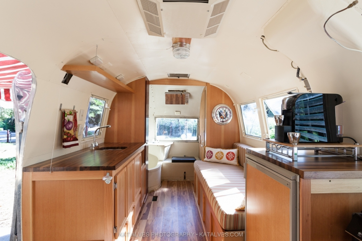 Built in bench in Airstream