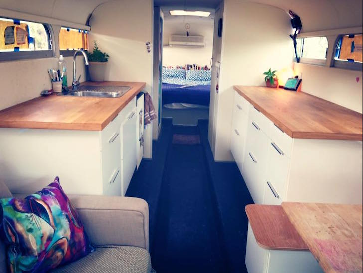 Completed bus renovation