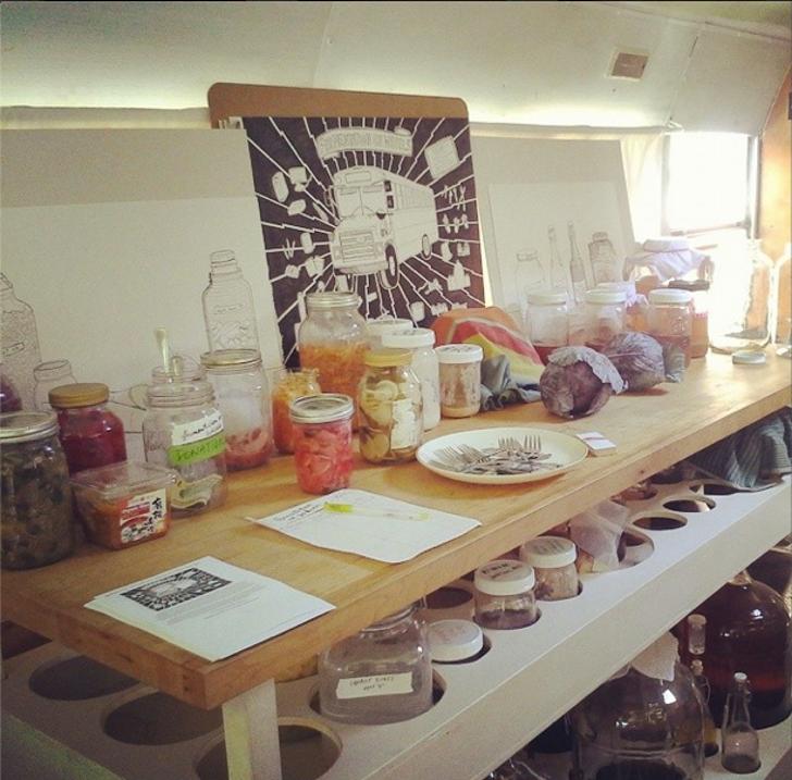 DIY skoolie bus food lab