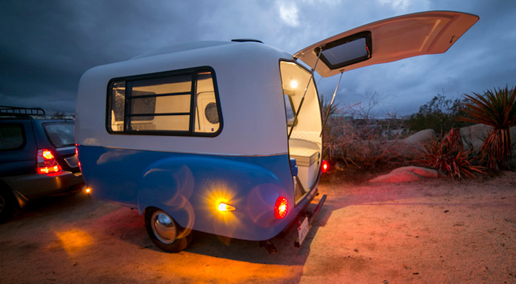 This Modern Ultra-Light Fiberglass Camper Showcases The Beauty Of Modular Design