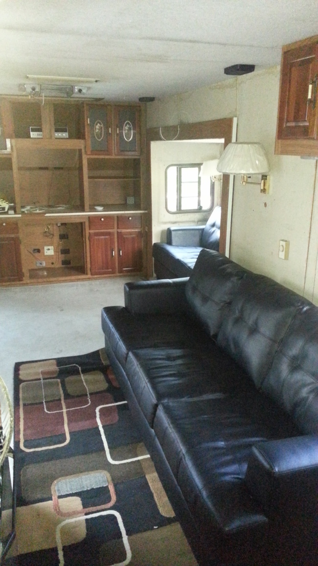 Inside Ted Turner fifth wheel