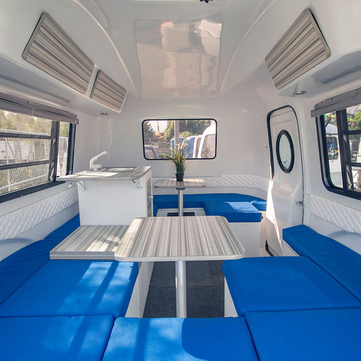 Inside the HC1 small camper