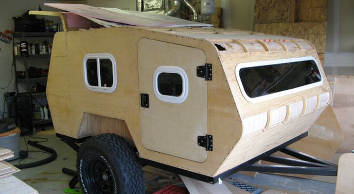 DIY Off Road Teardrop Camper Made For Rough Terrain