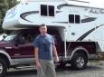 Loading a truck camper