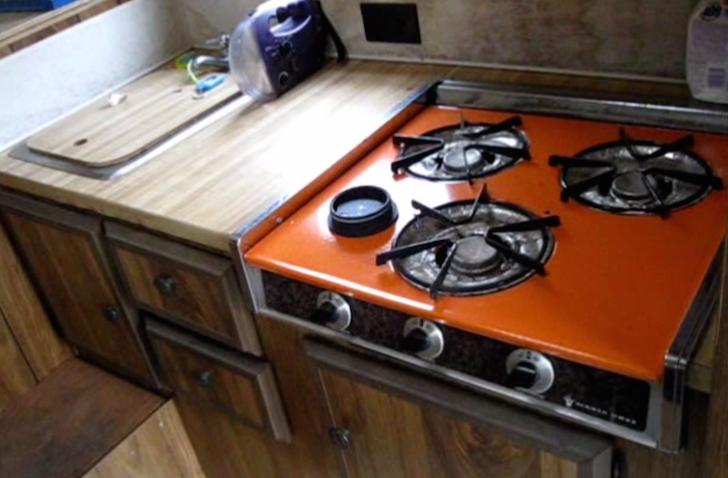 Propane cooktop