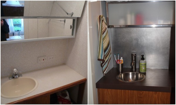 Remodeling Airstream trailer bathroom