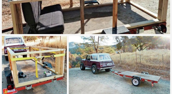He Put A Tent On A Trailer And Made A Totally Practical Camper