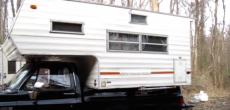 Truck camper bug out shelter