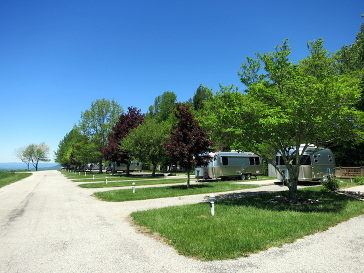 Two Airstreams at RV park