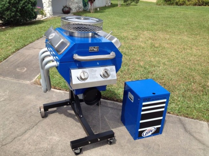 This Engine Shaped BBQ Has all the Power you need!