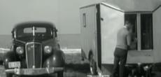 Vintage camping footage