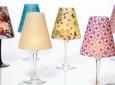 Classy Wine Glass Lamps Made From Vellum Or Tracing Paper