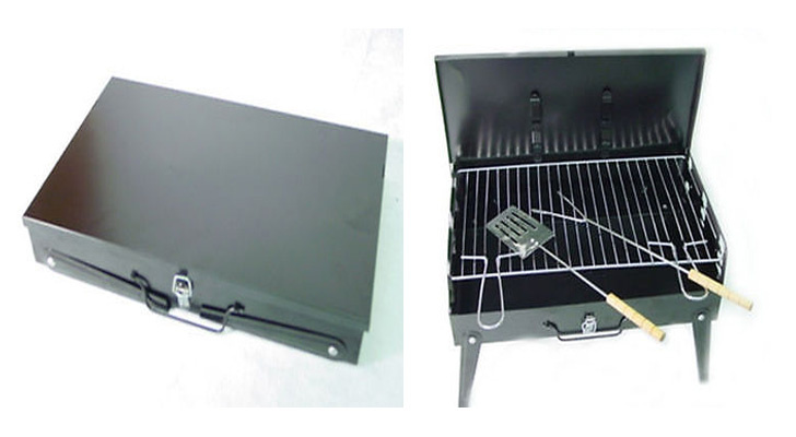 Barbecue like a boss with this briefcase portable bbq!