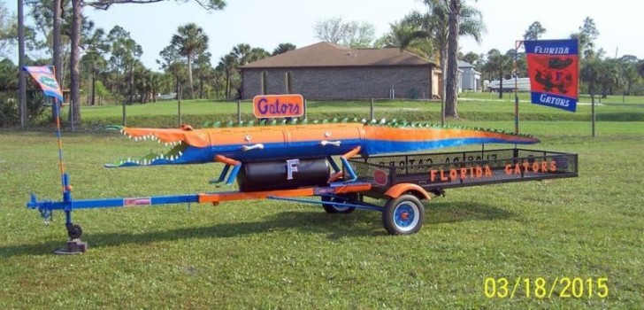 The ultimitate tail gator bbq grill!