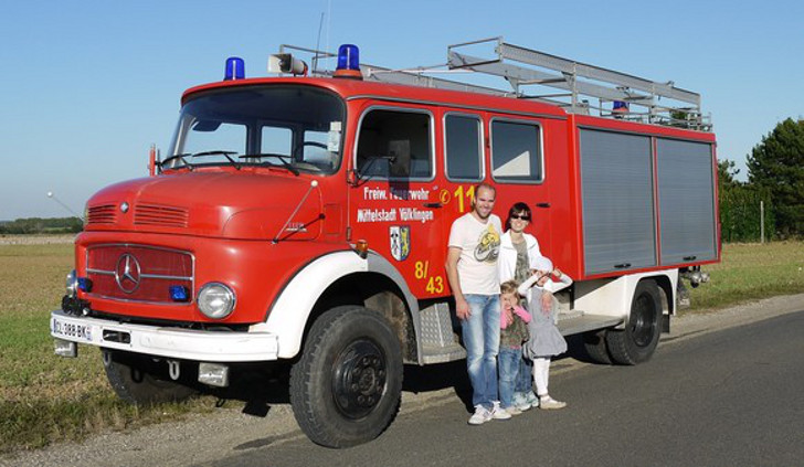 Mercedes fire truck overland RV