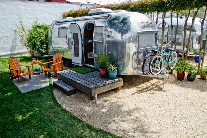 Vintage Airstream at Autocamp