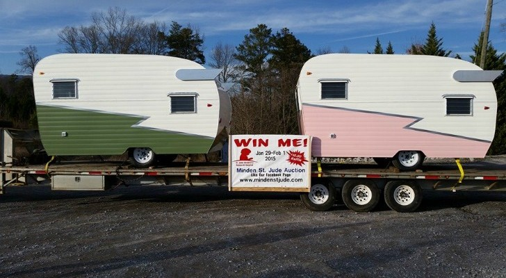 Custom built campers look vintage