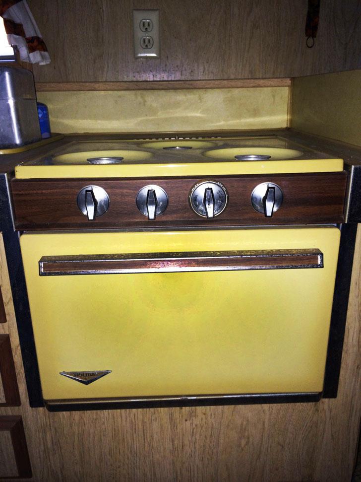 working stove