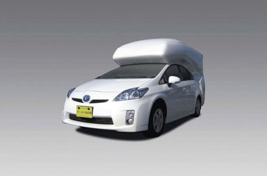 Sleek Prius Camper Conversion Sleeps Four With Room To Stand Up