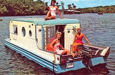 Vintage Camper Converted Into A Boat