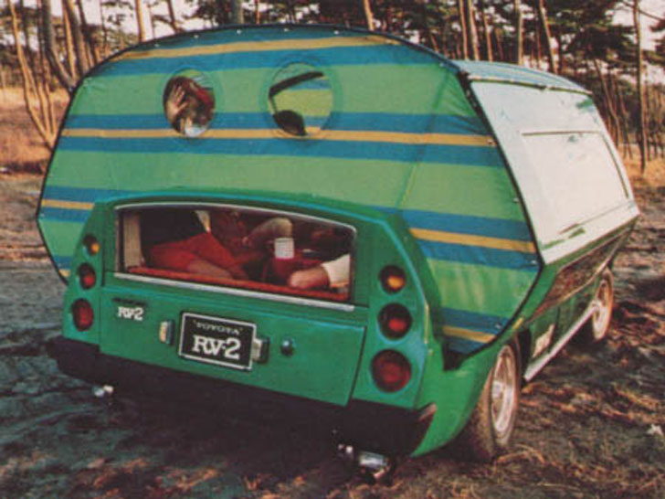 rear view of tent