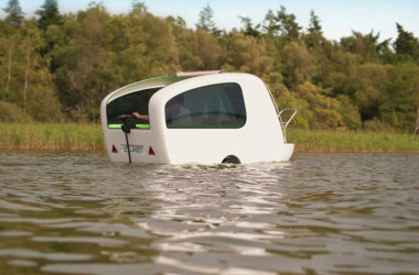 Sealander Is A Small Amphibious Camper Making a Big Splash
