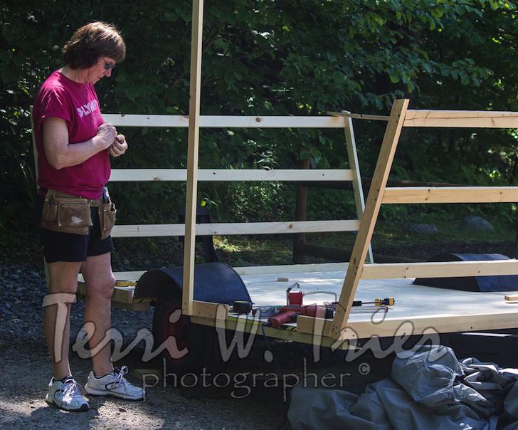 Assembling the camper frame