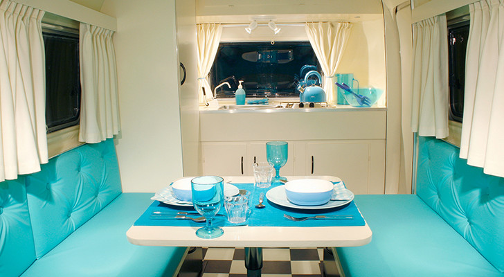 Vintage BIOD Bambi Camper Morphed Into A Gorgeous 1950s Style Diner With Bed