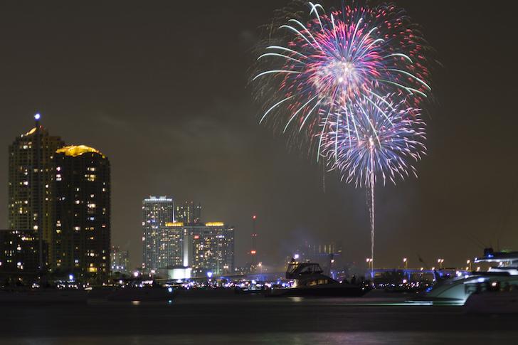 Biscayne Bay fireworks