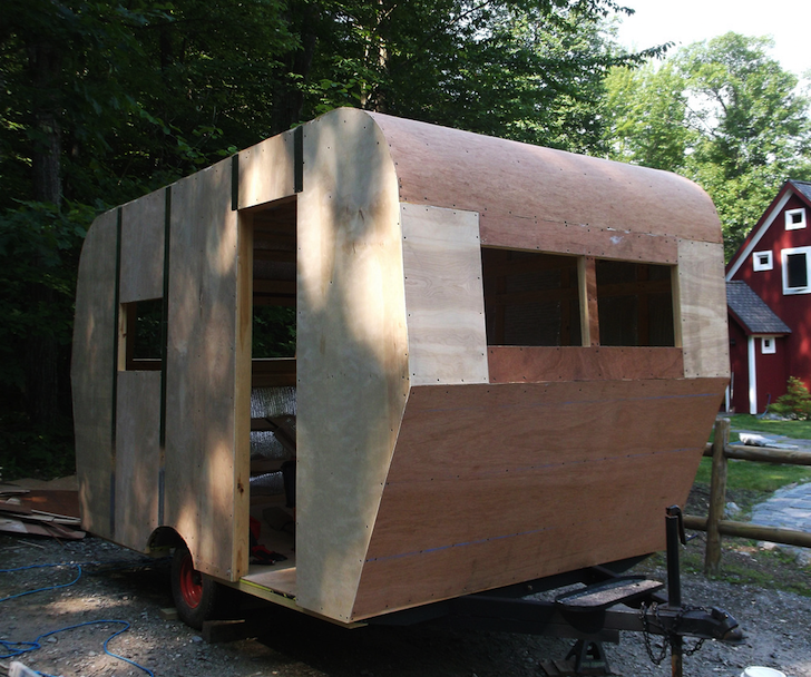 Completed camper shell