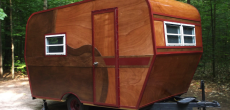 Completed homebuilt camper