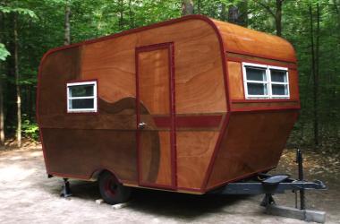 Completed homebuilt camper
