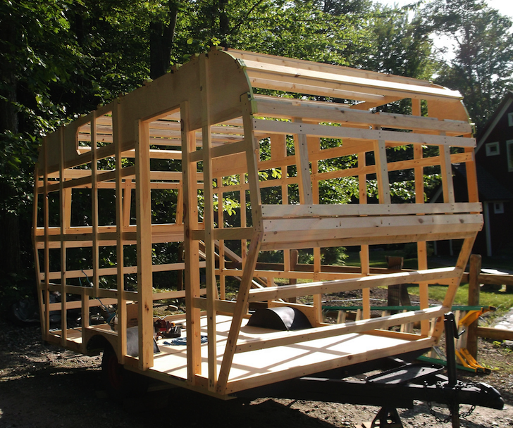 Custom built camper frame