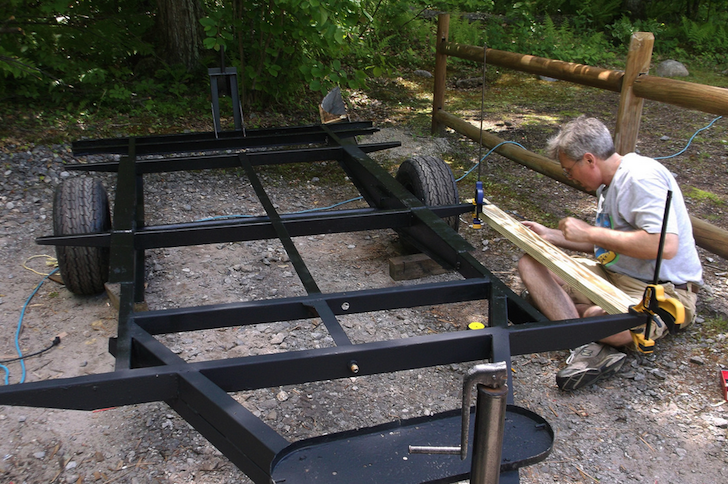 DIY trailer frame