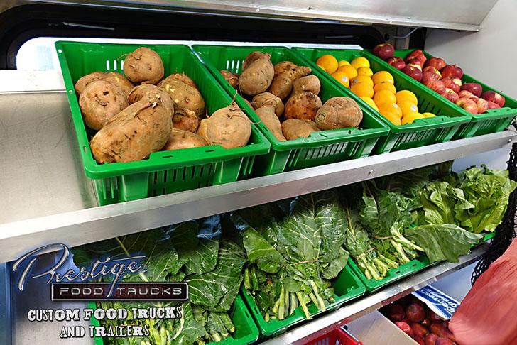 fresh produce shelves