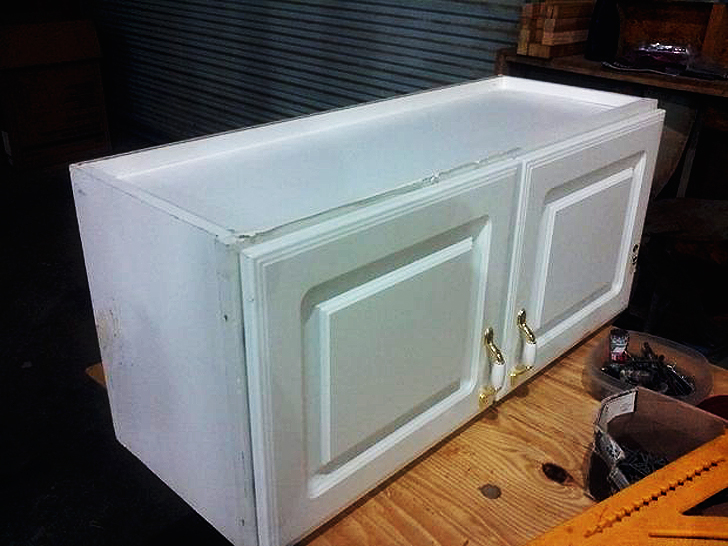How To Fit Stock Kitchen Cabinets In A Bus Conversion
