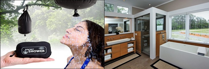 Camping vs. Glamping: How You Shower