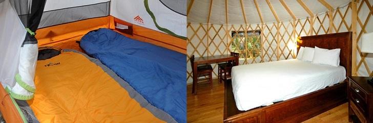 Camping vs. Glamping: How You Sleep