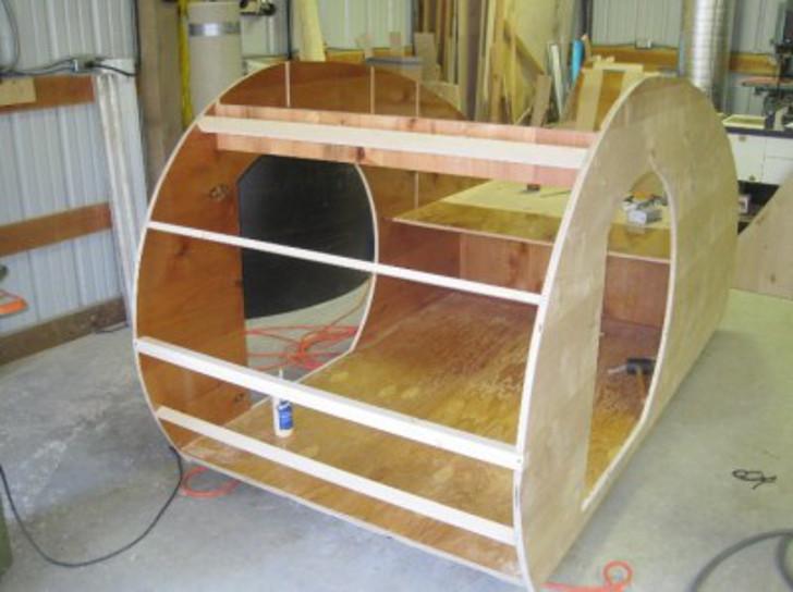 Mini Cooper camper trailer