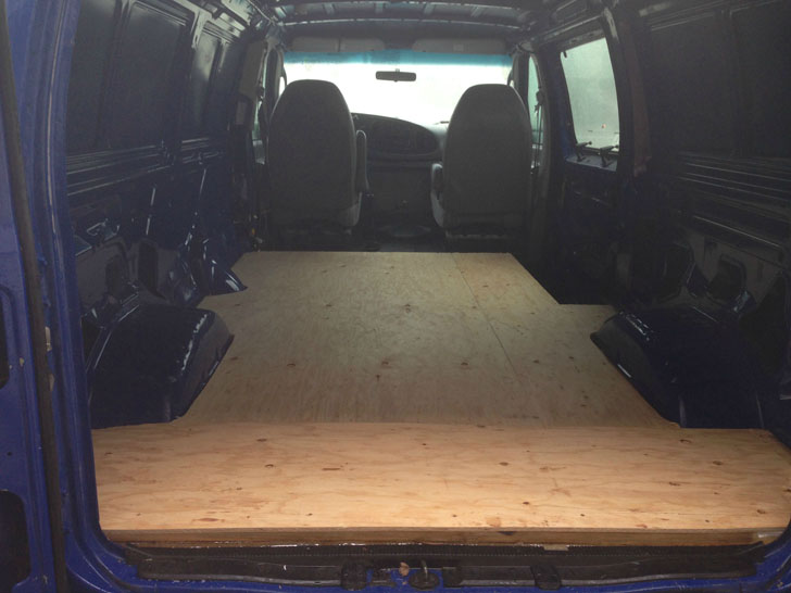 finished van floor