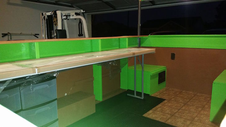 Lime green interior