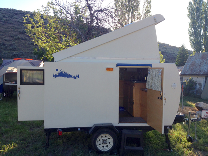 myaway handcrafted trailer front diyrv - Tiny Camping Trailers