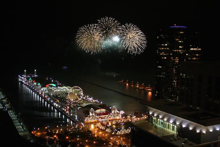 Navy Pier fireworks show