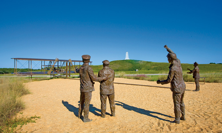 wright brothers statues