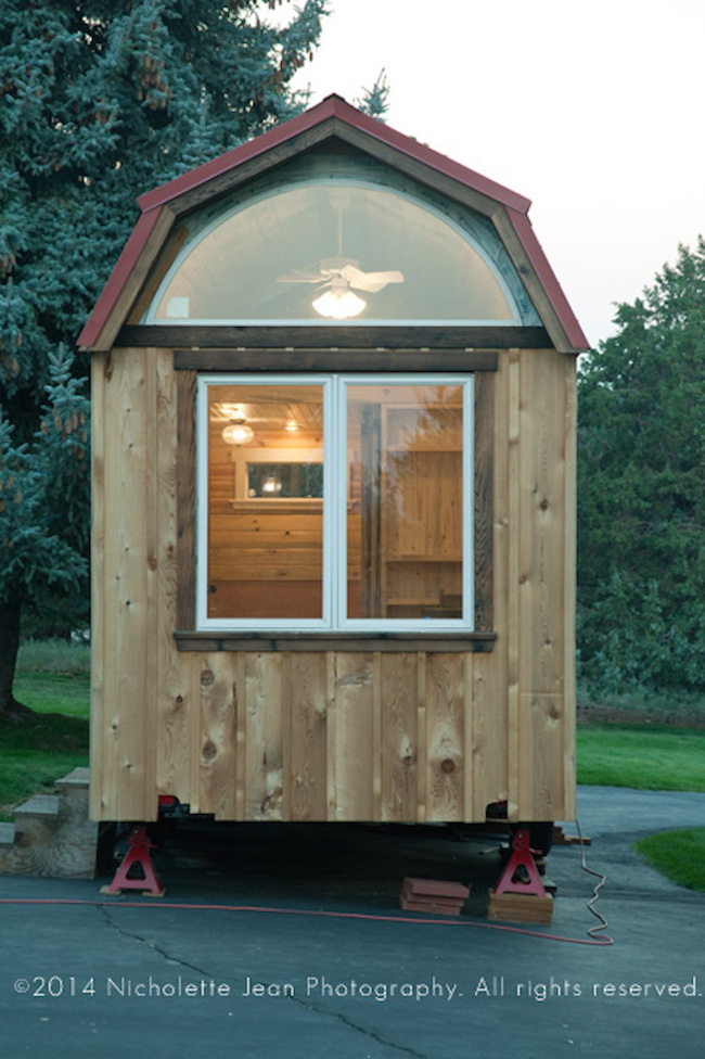 Outside of tiny house