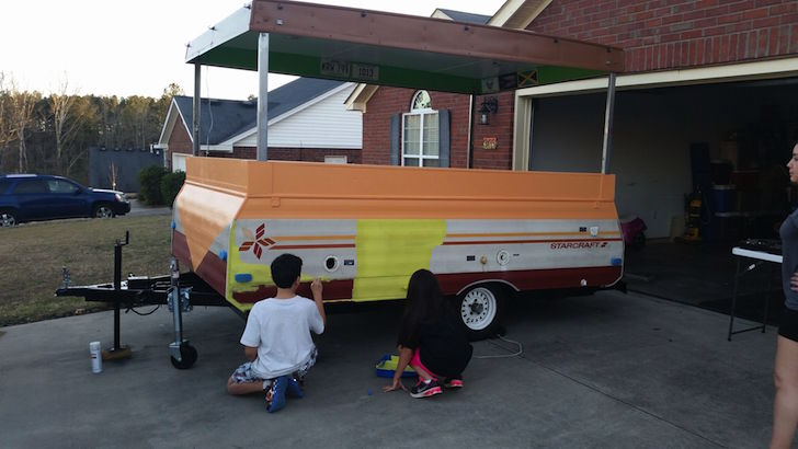 Pop up camper painting