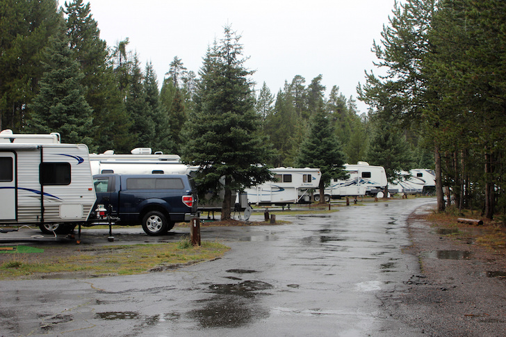 RV park after rain