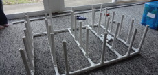 Mobile PVC Shoe Rack Neatly Stows Over A Dozen Pairs Of Shoes